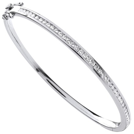 Selling: 18ct White Gold 1.00ctw Diamond Bangle