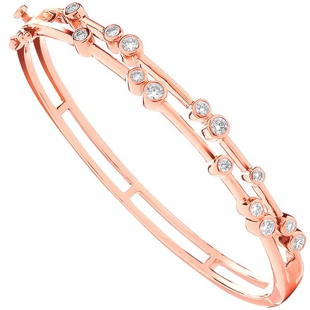 Selling: 18ct Rose Gold 1.00ctw Dress Diamond Bangle