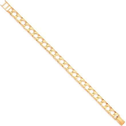 Y/G Casted Grain Edge Gents Bracelet