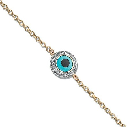 Selling: 18ct Yellow Gold 0.30ct Evil Eye Diamond Bracelet