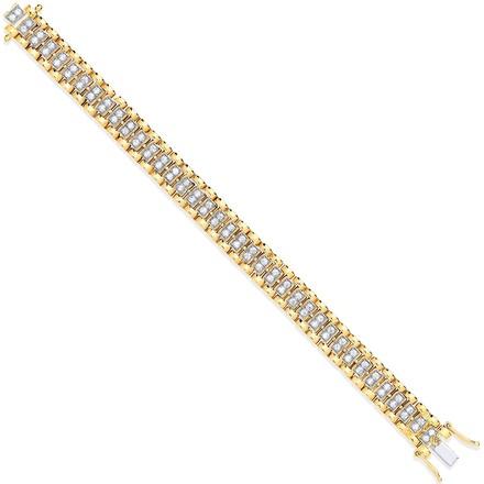 Y/G Fancy Link Cz Child/Ladies Bracelet