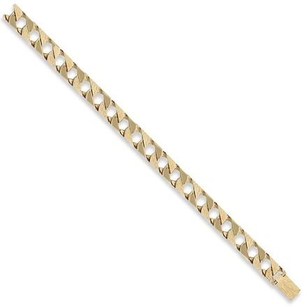 Y/G Plain & Bark Casted Curb Bracelet