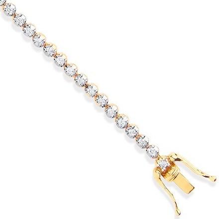 Selling: 18ct Yellow Gold 1.00ctw Diamond Tennis Bracelet