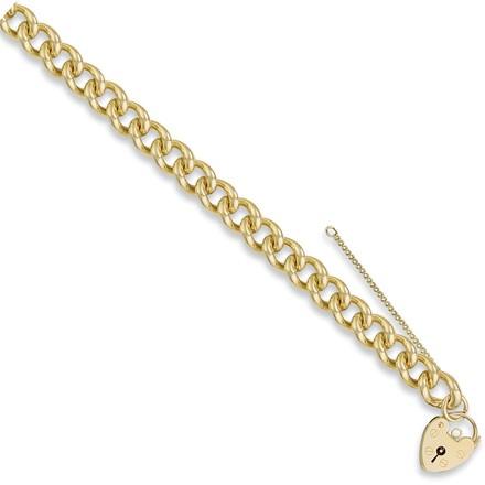 Y/G Tight Link Curb & Padlock Charm Bracelet