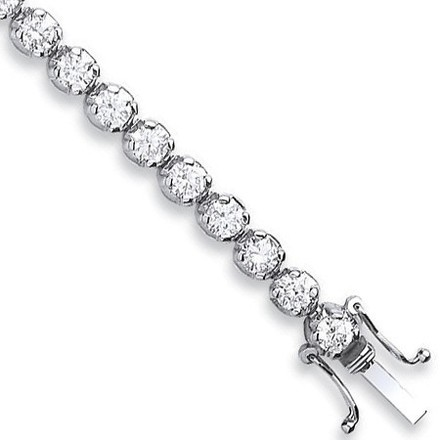 Selling: 18ct White Gold 5.00ct Diamond Tennis Bracelet