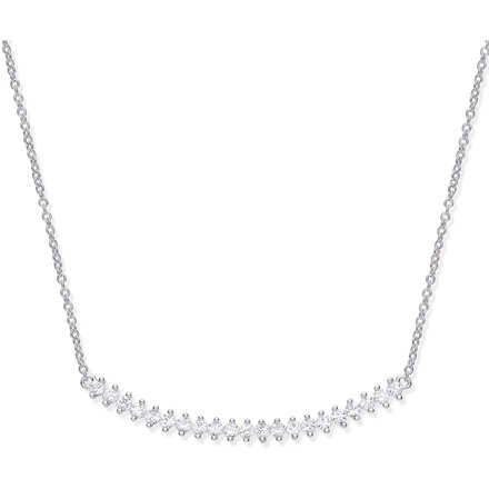 Selling: Silver Chic Curved Bar CZ Necklace