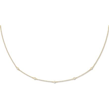 Y/G Diamond by the Yard Cz Bracelet & Necklace