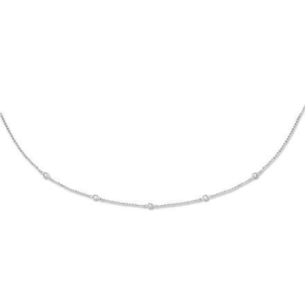 W/G Diamond by the Yard Cz Bracelet & Necklace