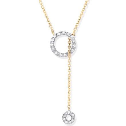 Selling: 9ct YG 0.09ctw Tassel Through Circle of Life Pendant Chain