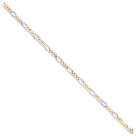 Selling: Y & W/G Hollow Figaro Chain/Bracelet