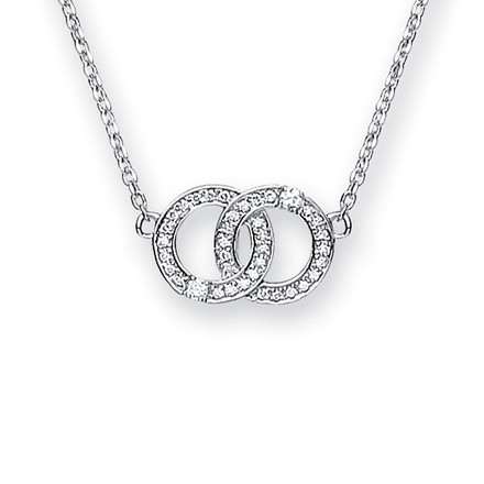 Selling: 9ct White Gold 0.34ct Diamond Necklace