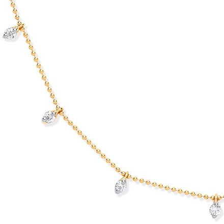 18ct YG 0.50ctw Diamond Set Chain