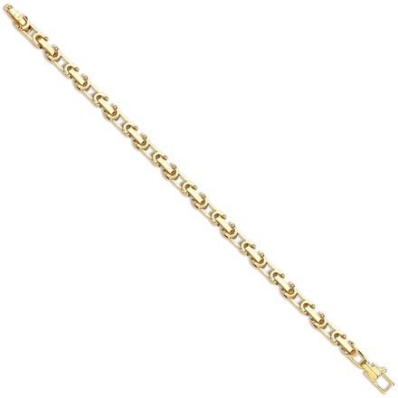 Selling: Y/G  Hollow Belcher Interlocking Link Chain/Bracelet