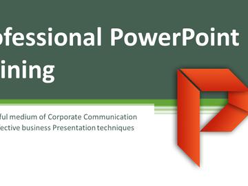 Consultation: Microsoft professional PowerPoint Training