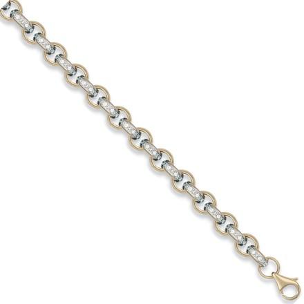 Y/G Cz Belcher Chain