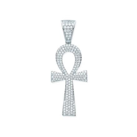 Selling: Silver CZ Ankh Cross - Key of Life