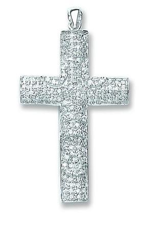 Selling: Silver Pave Set Cz Cross