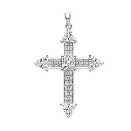 Selling: Silver Fancy Cz Cross