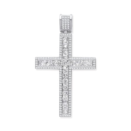 Selling: Silver CZ Fancy Cross