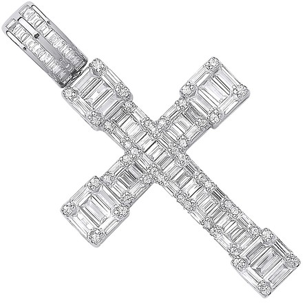 Selling: Silver Cz Baguettes Fancy Cross