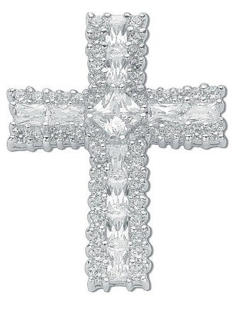 Selling: Silver Fancy Cz Cross