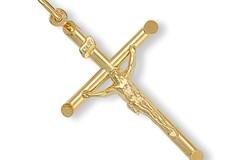 Selling: Y/G Round Tube Crucifix