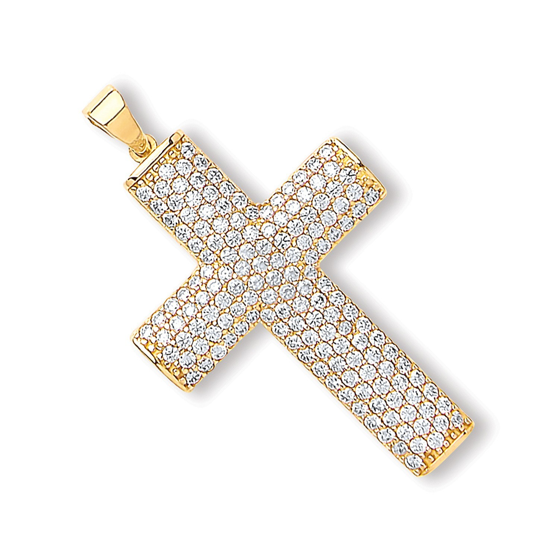 Y/G Cz Crucifix