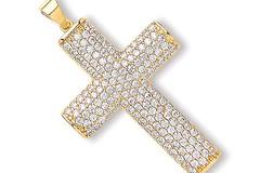 Selling: Y/G Cz Crucifix