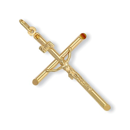Y/G Round Tube Crucifix