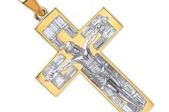Selling: Y & WG Cz Baguettes Crucifix