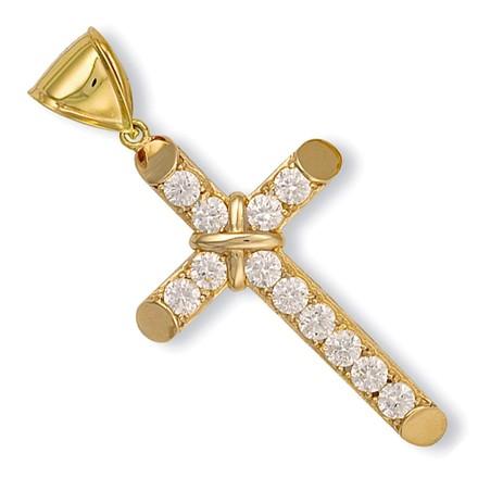 Y/G Claw Set Cz Cross