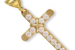 Selling: Y/G Claw Set Cz Cross