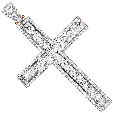 Selling: Y & W/G Round Cz Cross