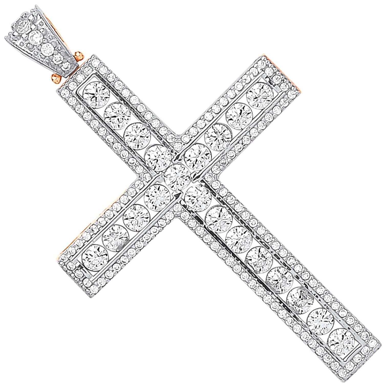 Y & W/G Round Cz Cross