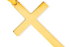 Selling: Y/G Solid Large Plain Cross