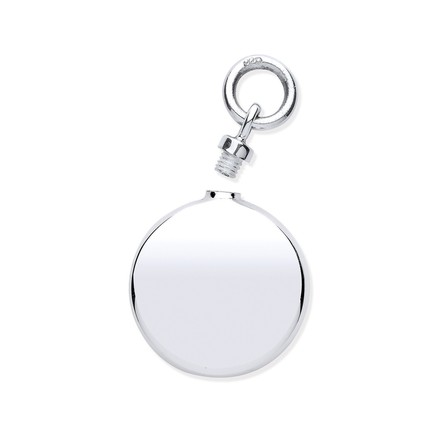 Selling: Silver Perfume/Ashes Round Holder Pendant