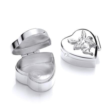 Selling: Silver Angel Trinket (Pill) Heart Box