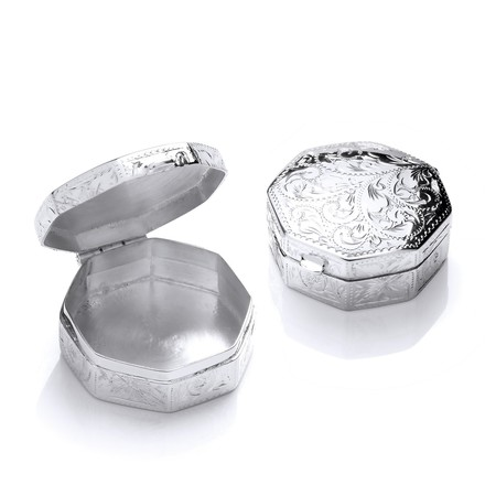 Selling: Silver Trinket (Pill) Octagon Design Box