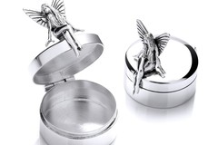 Selling: Silver Fairy Trinket (Pill) Round Box