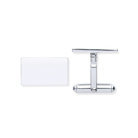 Selling: Silver Plain Rectangle Cufflinks