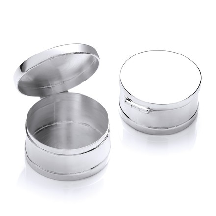 Selling: Silver Trinket (Pill) Round Deep Plain Box