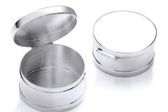 Selling: Silver Trinket (Pill) Round Deep Plain Box