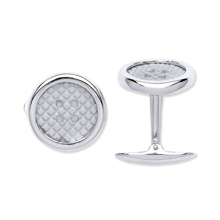 Selling: Silver Button Cufflinks