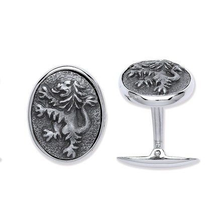 Selling: Silver Rampant Lion Cufflinks