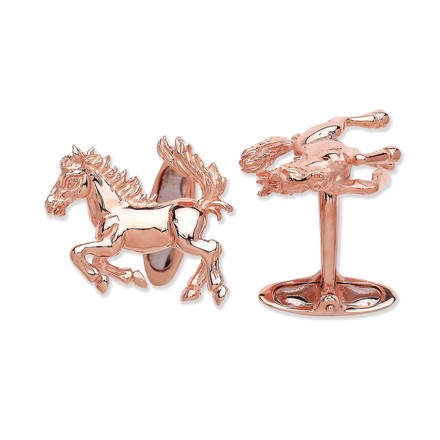 Selling: Silver R/G Coated Horse Cufflinks
