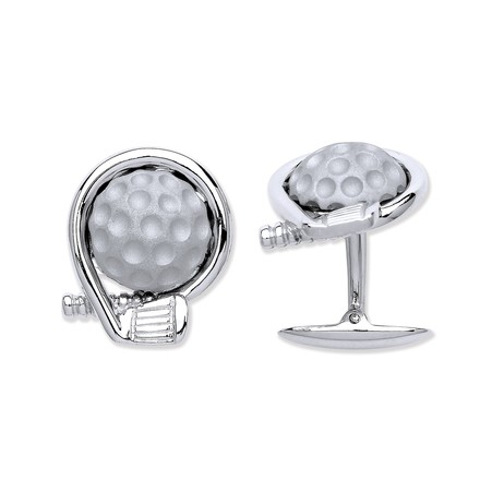 Selling: Silver Golf Logo/Club and a Ball Cufflinks