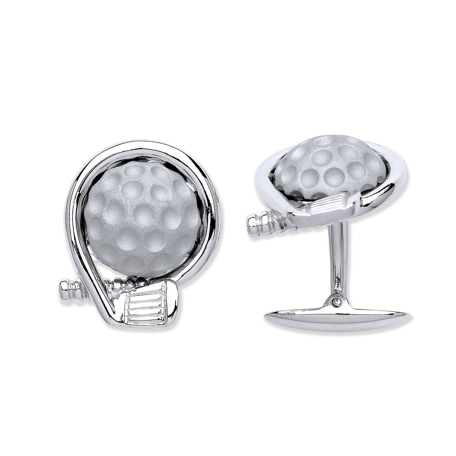 Silver Golf Logo/Club and a Ball Cufflinks