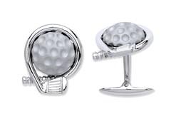 Selling: Silver Golf Logo/Club and a Ball Cufflinks