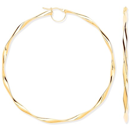 Selling: YG Hollow 75mm Twist Hoop Earrings