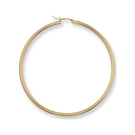 Selling: Y/G Round Tube Hoop Earrings